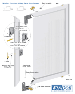 2750/3750 Sliding Door Premium Screen System