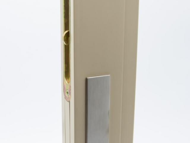 3750 MS Beige Sash with Brushed Chrome Hardware