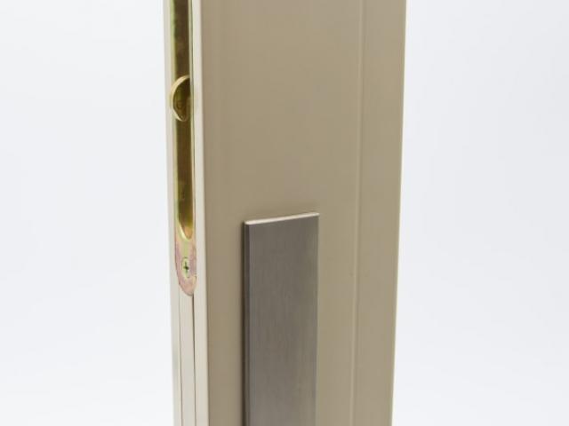 3750 MS Beige Sash with Brushed Chrome Keyed Hardware