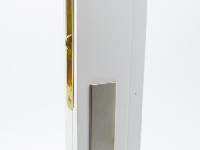 3750 MS White Sash with Brushed Chrome Hardware