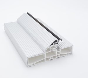 3750 Swing Door White Frame Clear Anodized Sill