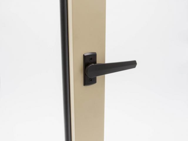 Beige 3750 Folding Door with Black Shoot Bolt