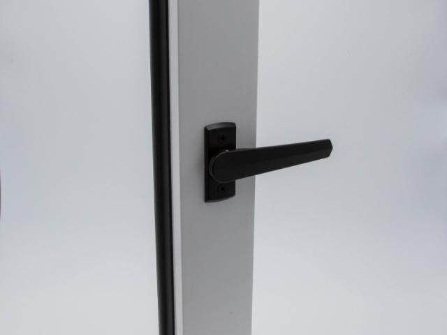 White 3750 Folding Door With Black Shoot Bolt
