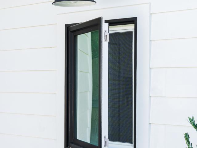 WinDor 1750 Casement Window Black Exterior with White Interior